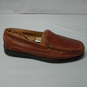 Dockers Brown Leather Driving Moccasins Shoes 8M